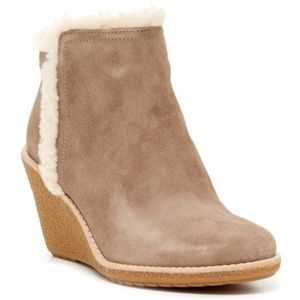 Cole Haan Michelle Faux Fur Lined Suede Booties 11